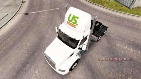 Скин US Foods на тягач Peterbilt для American Truck Simulator