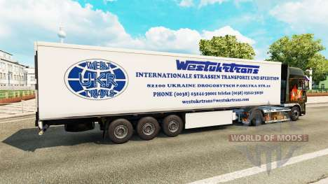 Скин West Truck Trans на полуприцеп для Euro Truck Simulator 2