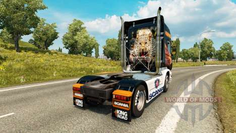 Скин Predator на тягач Scania для Euro Truck Simulator 2