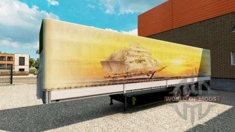 Скин Meridianas на полуприцеп для Euro Truck Simulator 2