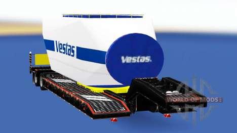 Негабаритный трал с различными грузами для American Truck Simulator