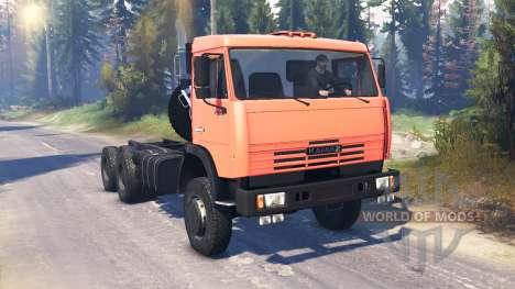 КамАЗ-65111 v2.0 для Spin Tires