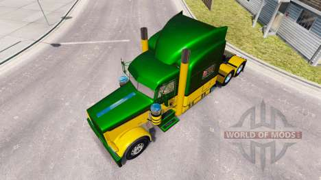 Скин Guzman Express на тягач Peterbilt 389 для American Truck Simulator