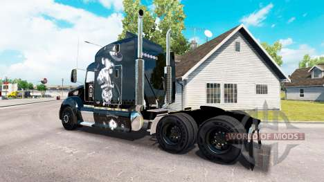Скин Motorhead на тягач Peterbilt 386 для American Truck Simulator