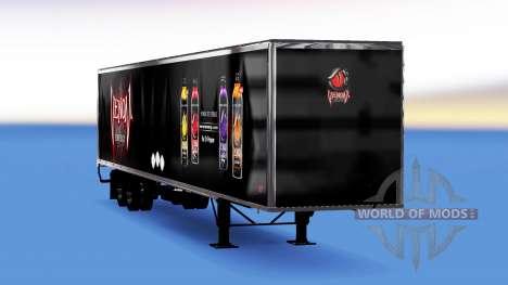 Цельнометаллический полуприцеп Venom Energy для American Truck Simulator