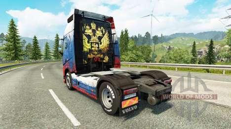 Скин Russia на тягач Volvo для Euro Truck Simulator 2