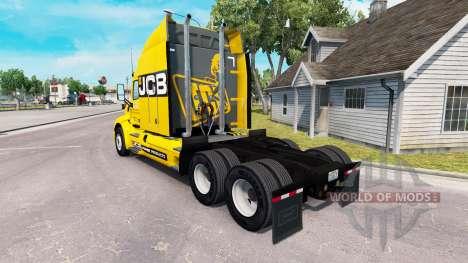 Скин JCB на тягач Peterbilt для American Truck Simulator