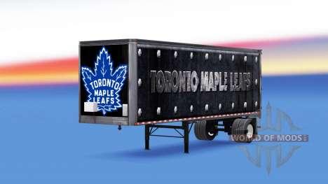 Скин Toronto Maple Leafs на полуприцеп для American Truck Simulator