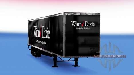 Цельнометаллический полуприцеп Winn Dixie для American Truck Simulator