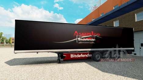 Скин BitDefender на полуприцеп для Euro Truck Simulator 2