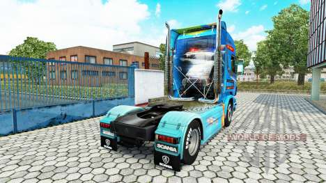 Скин Need For Speed Hot Pursuit на тягач Scania для Euro Truck Simulator 2