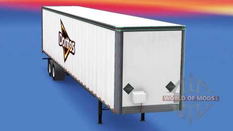 Скин Doritos на полуприцеп для American Truck Simulator