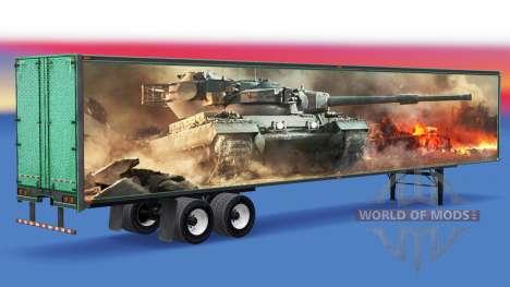 Скин World of Tanks на полуприцеп для American Truck Simulator
