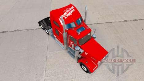 Скин Heartland Express [red] на тягач Kenworth для American Truck Simulator