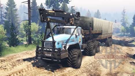 Урал-4320-10 10x10 v2.0 для Spin Tires