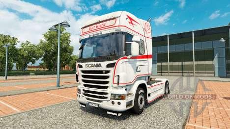 Скин Bart Kroeze на тягач Scania для Euro Truck Simulator 2