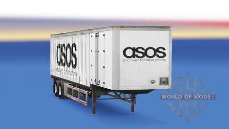 Шторный полуприцеп Asos для American Truck Simulator