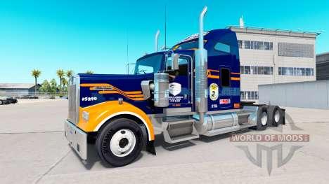 Скин Denver Broncos на тягач Kenworth W900 для American Truck Simulator