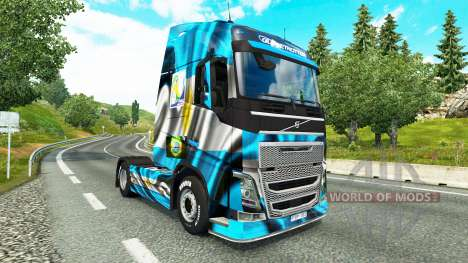 Скин Argentina Copa 2014 на тягач Volvo для Euro Truck Simulator 2