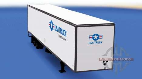 Цельнометаллический полуприцеп USA Truck для American Truck Simulator
