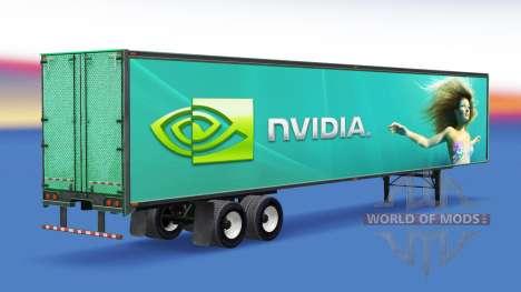 Скин Nvidia GeForce на полуприцеп для American Truck Simulator
