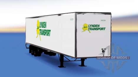 Цельнометаллический полуприцеп Lynden для American Truck Simulator