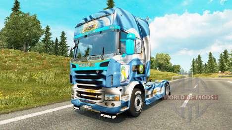 Скин Argentina Copa 2014 на тягач Scania для Euro Truck Simulator 2