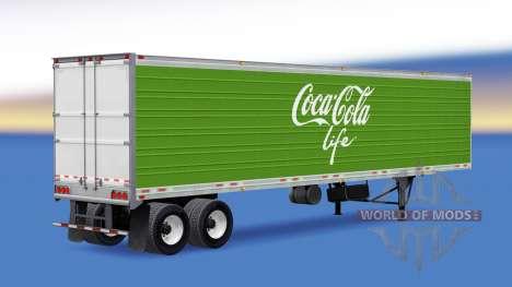 Рефрижераторный полуприцеп Coca-Cola Life для American Truck Simulator