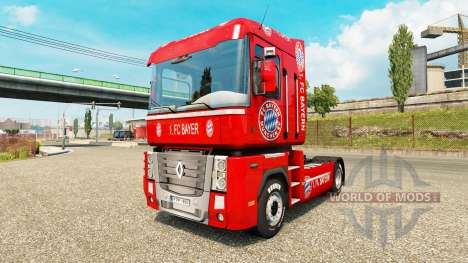 Скин FC Bayern на тягач Renault для Euro Truck Simulator 2