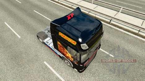 Скин Predator на тягач DAF для Euro Truck Simulator 2