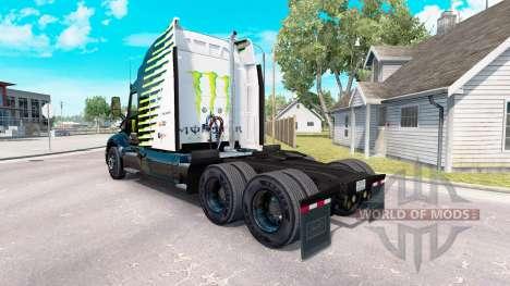 Скин Falken Monster Energy на тягач Peterbilt для American Truck Simulator