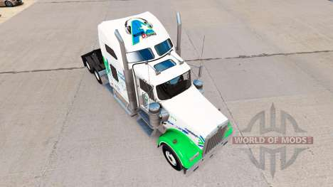 Скин All Star FJ Service на тягач Kenworth W900 для American Truck Simulator