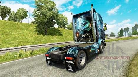 Скин PC Ware на тягач Scania для Euro Truck Simulator 2