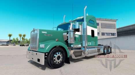 Скин Reimer Express Lines на тягач Kenworth W900 для American Truck Simulator
