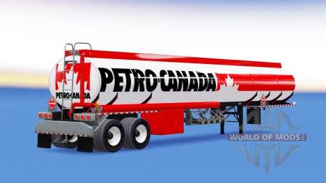 Скин Petro Canada на топливный полуприцеп для American Truck Simulator