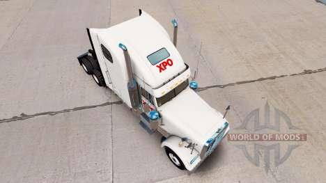 Скин XPO Logistics на тягач Freightliner Classic для American Truck Simulator