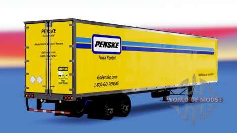 Скин Penske на полуприцеп для American Truck Simulator