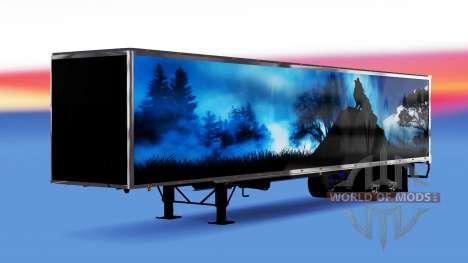 Цельнометаллический полуприцеп Wolf для American Truck Simulator