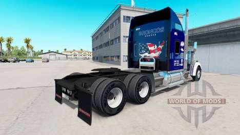 Скин Uncle D Logistics на тягач Kenworth W900 для American Truck Simulator