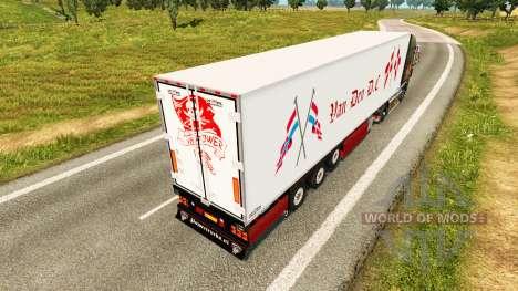 Полуприцеп-рефрижератор Chereau Van Den D.C. для Euro Truck Simulator 2