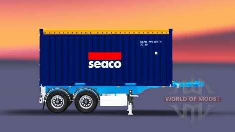 Полуприцеп с 20-ти фунтовым контейнером для Euro Truck Simulator 2