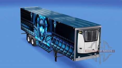 Скин Alienware на рефрижераторный полуприцеп для American Truck Simulator