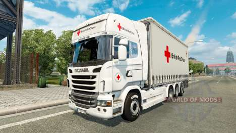 Scania R730 Tandem British Red Cross для Euro Truck Simulator 2