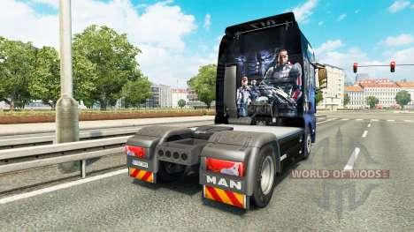 Скин Mass Effect на тягач MAN для Euro Truck Simulator 2