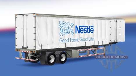 Скин Nestle на полуприцеп для American Truck Simulator