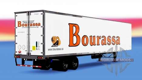 Цельнометаллический полуприцеп Bourassa для American Truck Simulator