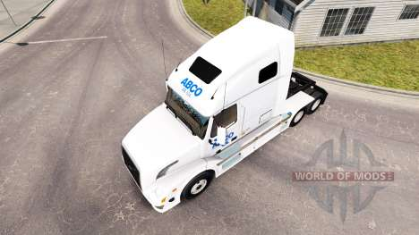 Скин ABCO на тягач Volvo VNL 670 для American Truck Simulator