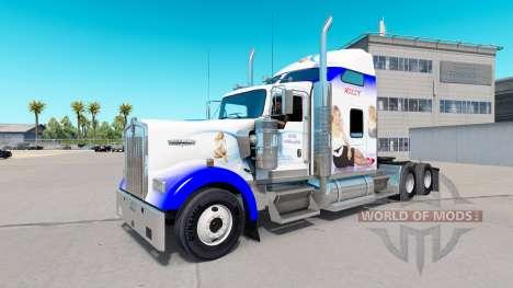 Скин Holly Willoughby на тягач Kenworth W900 для American Truck Simulator