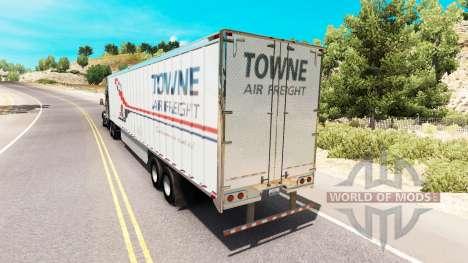 Скин Towne Air Freight на полуприцеп для American Truck Simulator