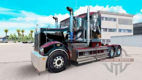 Скин Sally на тягач Kenworth T908 для American Truck Simulator
